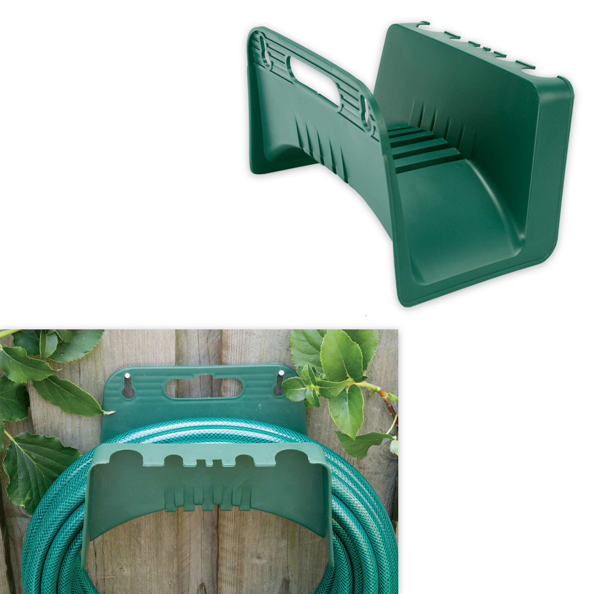 Garden Hose Bracket: Practical Wall Bracket For Garden Hose Plastic In Dark