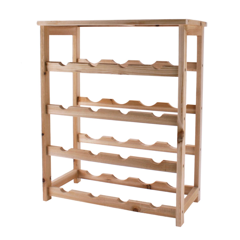 Botellero para vino botellas estanter a madera 55x46x23 cm - Estanterias para botellas ...