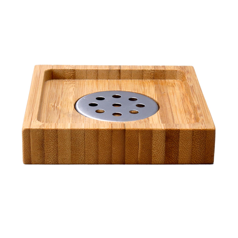 Porte savon bambou corbeille pour salle de bain ustensiles for Corbeille pour salle de bain