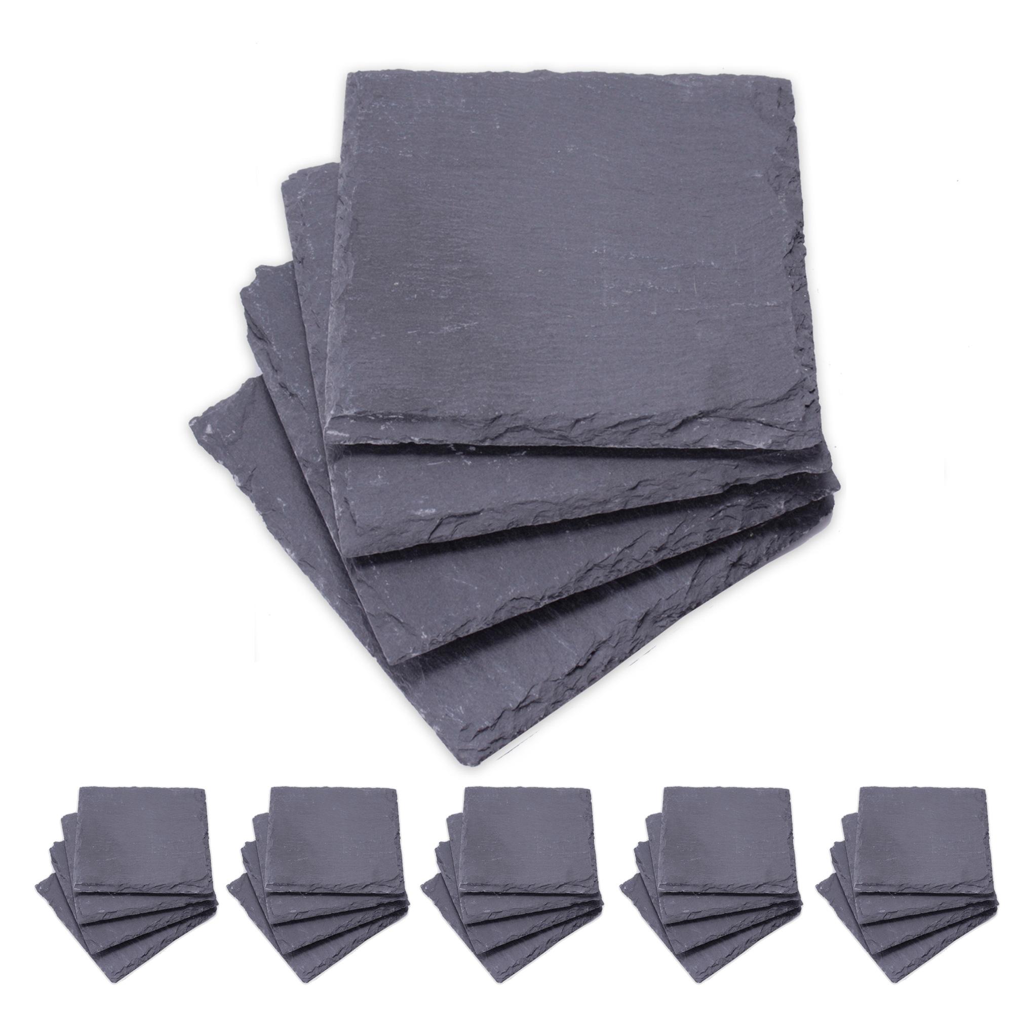 Untersetzer-aus-echtem-Schiefer-Tischset-Platzset-Unterlage-Steingut-10-x10-cm