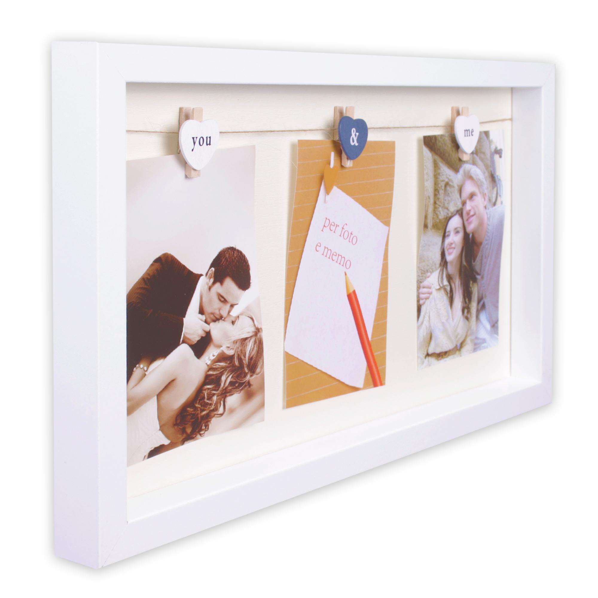 bilderrahmen aus mdf 24 x 43 x 3 cm f r 3 fotos 10 x 15 cm modell you me ebay. Black Bedroom Furniture Sets. Home Design Ideas
