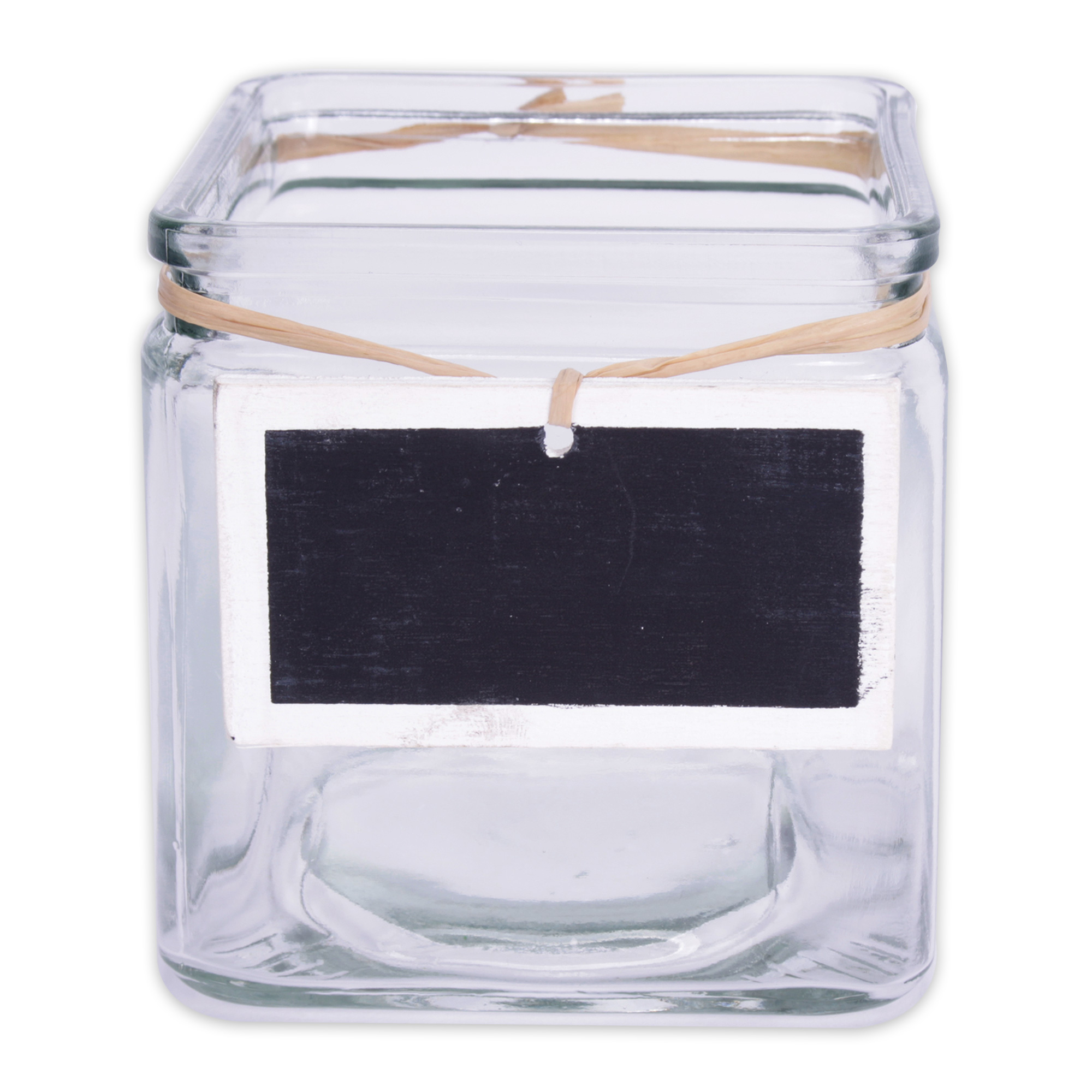6 x pflanztopf aus glas 10 x 10 x 10 cm mit holztafel zum beschriften mit kreide. Black Bedroom Furniture Sets. Home Design Ideas