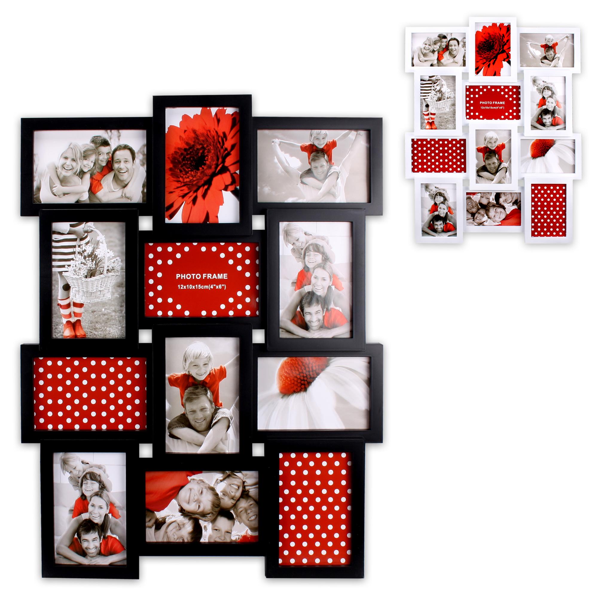 picture frame 3d collage photo frame plastic frame 12 fotos 10x15 u 15x10 ebay. Black Bedroom Furniture Sets. Home Design Ideas