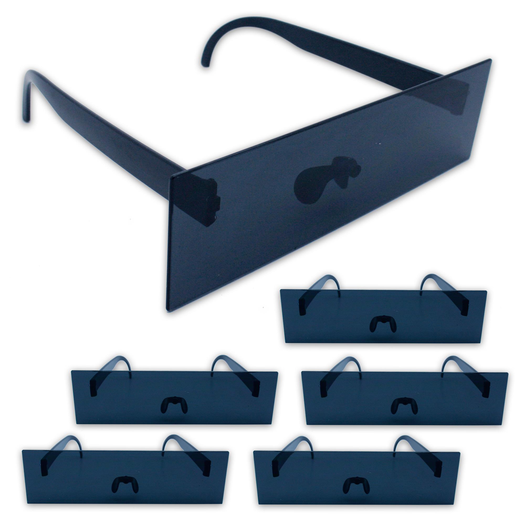 6 x balkenbrille partybrille scherzbrille gagbrille zensur. Black Bedroom Furniture Sets. Home Design Ideas