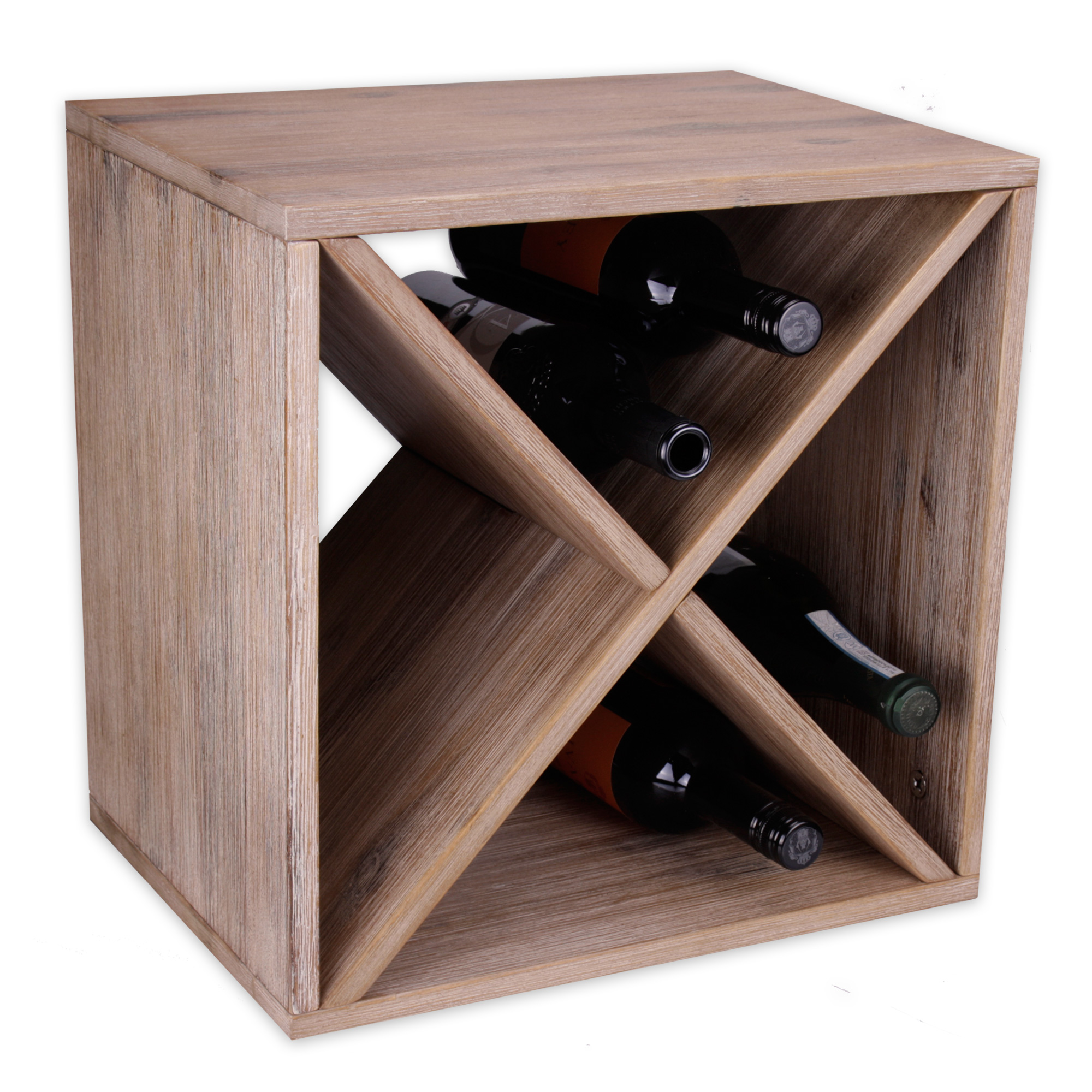 modernes weinregal flaschenregal weinregal wein regal holz braun 40 x 40 x 30 cm ebay. Black Bedroom Furniture Sets. Home Design Ideas
