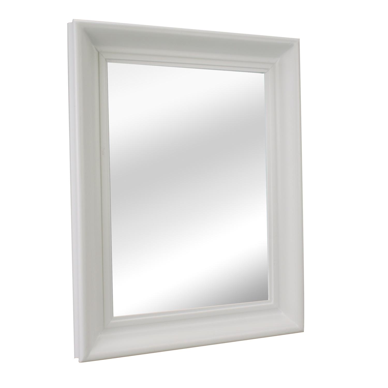 Specchio muro con cornice legno in corridoio decorativo for Specchio a muro senza cornice