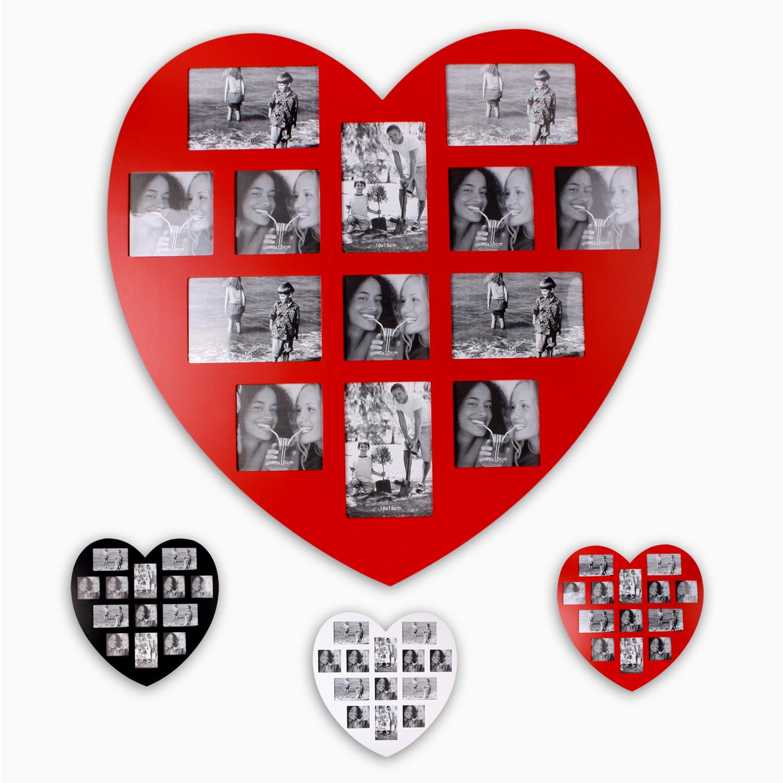 XL-Bilderrahmen aus MDF 59 x 59 cm für 13 Fotos \