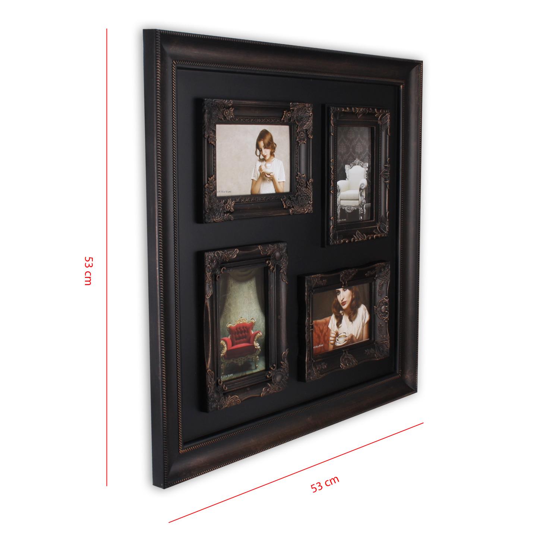 bilderrahmen f r 4 fotos 10 x 15 cm aus kunststoff gothic in braun kupfer edel ebay. Black Bedroom Furniture Sets. Home Design Ideas
