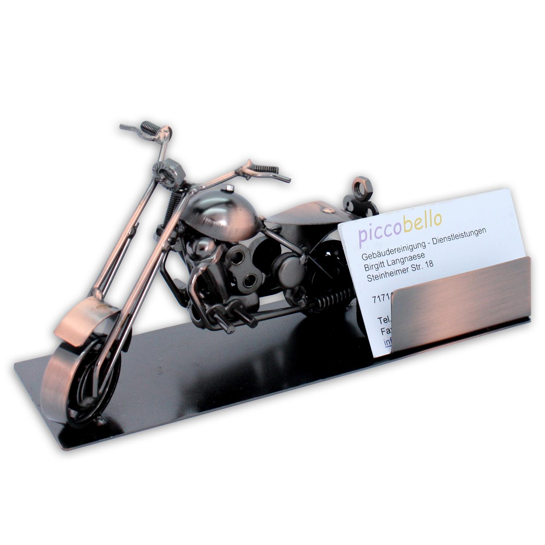 Visitenkartenhalter Visitenkartenständer Aufsteller Motorrad