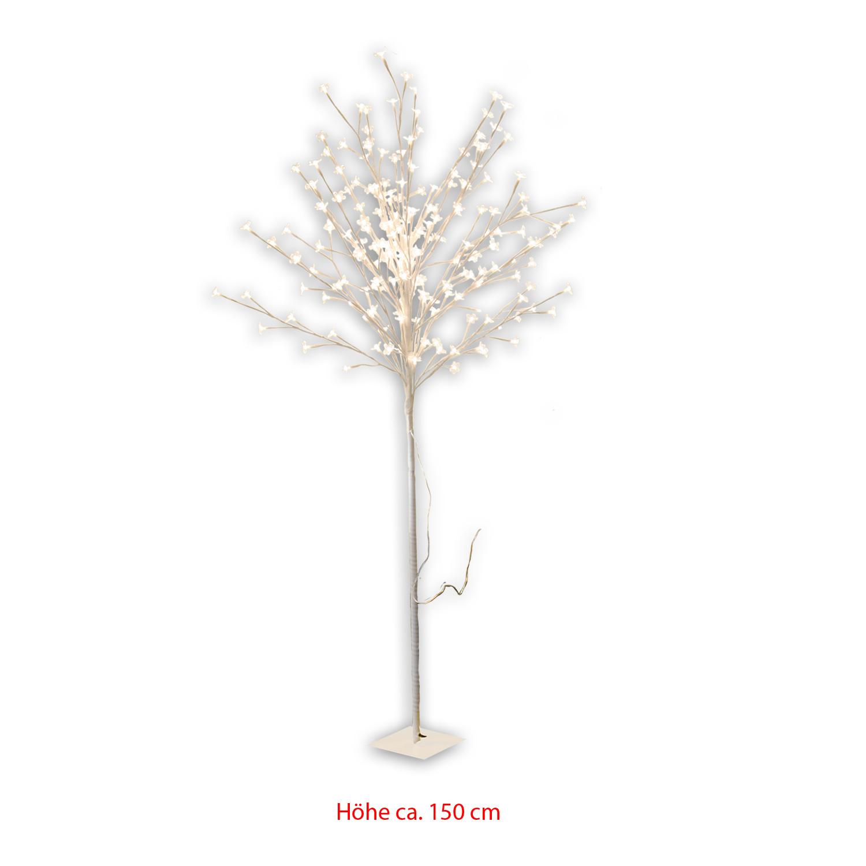 led baum lichtbaum 200 leds 150cm stamm perlmutt silber schwarz bl te weiss pink ebay. Black Bedroom Furniture Sets. Home Design Ideas