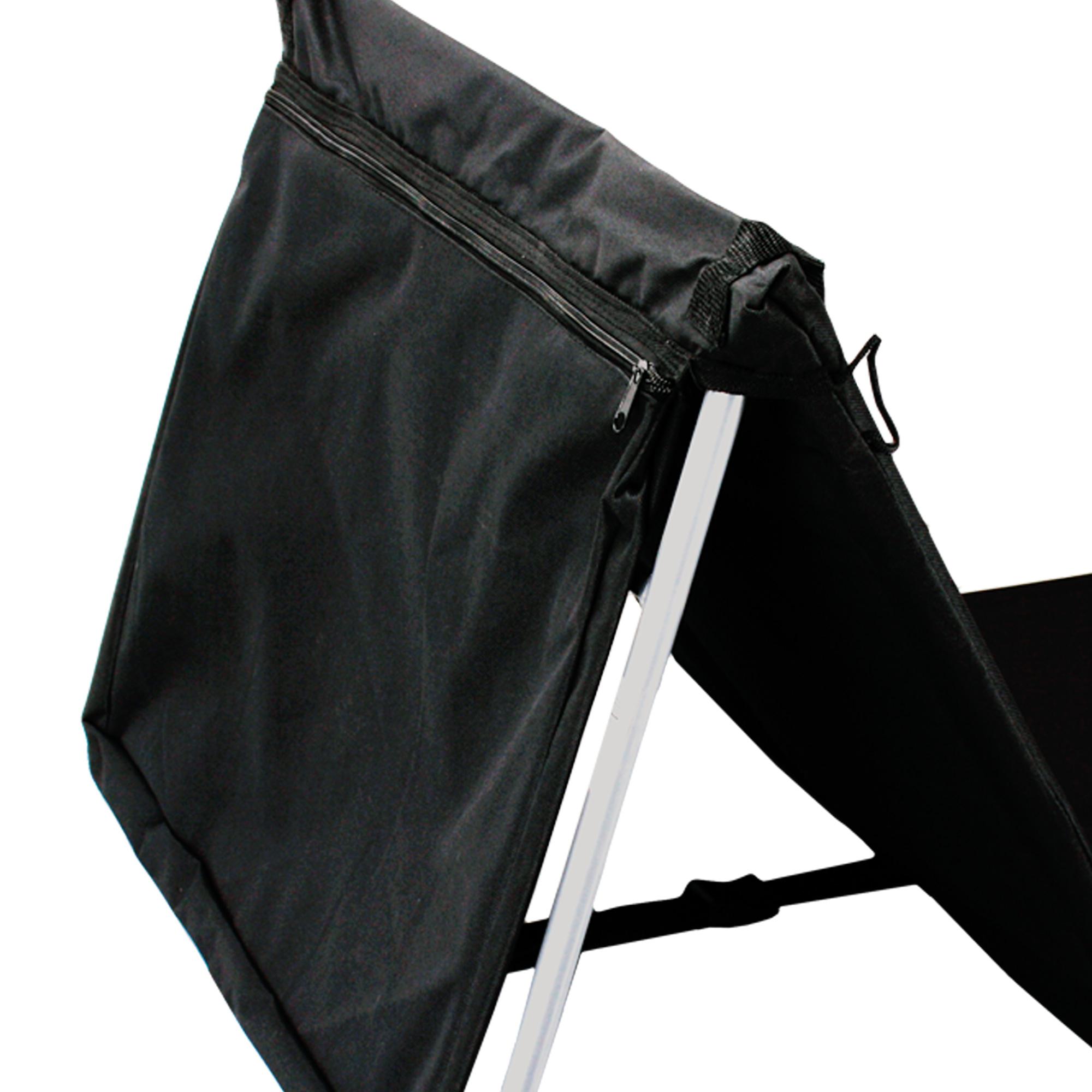 pliable chaise de plage natte longue pliante tapis pelouse ext rieur noir vip ebay. Black Bedroom Furniture Sets. Home Design Ideas