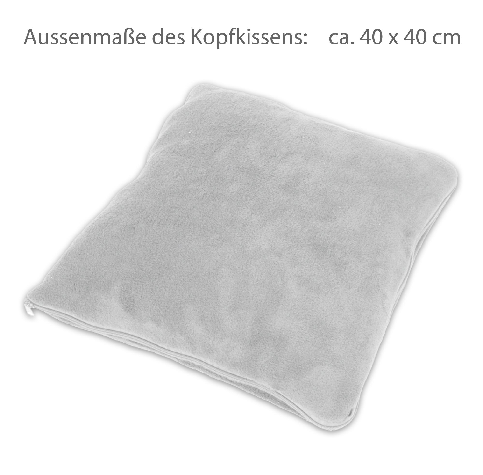 2in1 wohlf hlkissen kopfkissen kissen kuscheldecke wohndecke decke hellgrau ebay. Black Bedroom Furniture Sets. Home Design Ideas