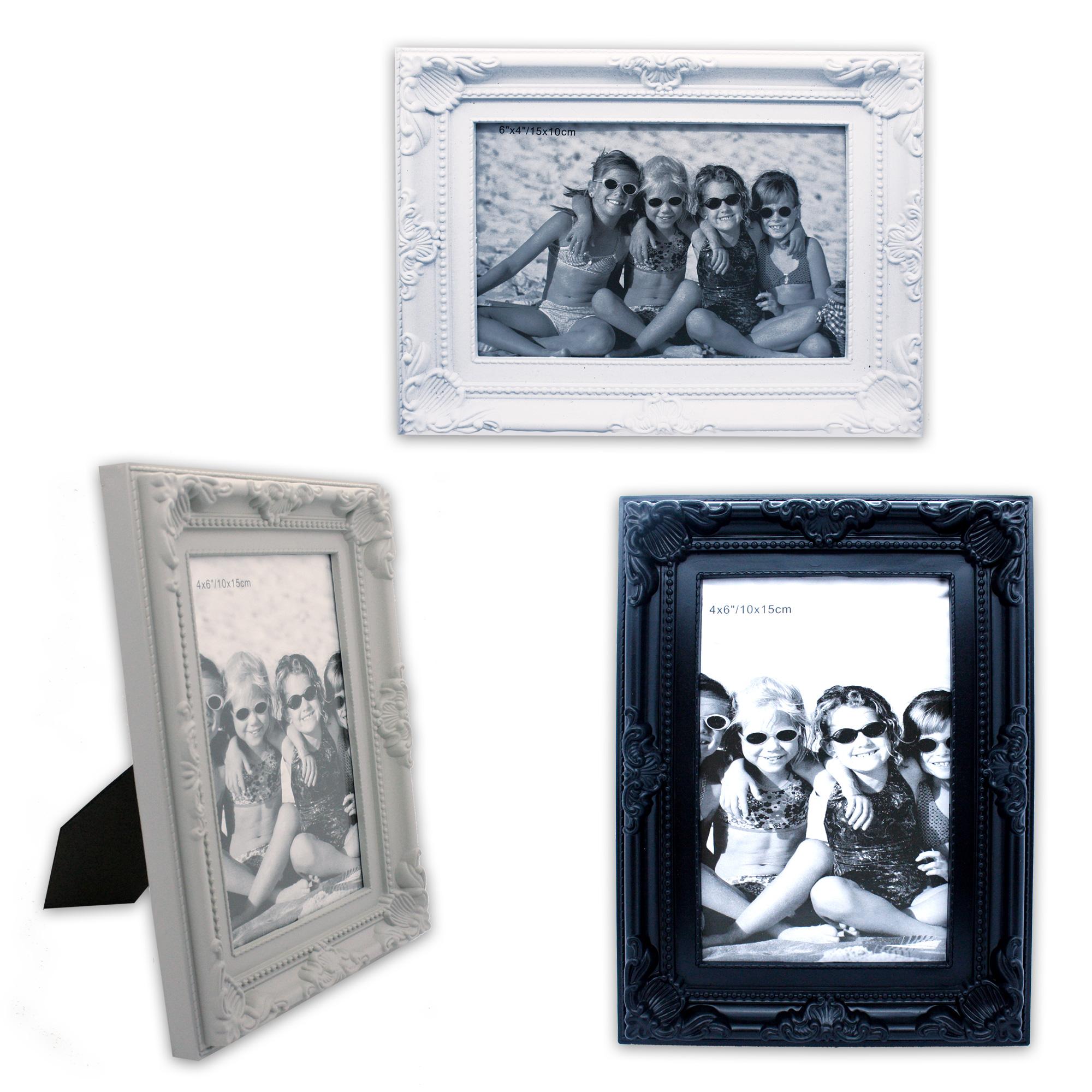 bilderrahmen fotorahmen kunststoffrahmen bild foto 10 x 15 cm weiss schwarz grau ebay. Black Bedroom Furniture Sets. Home Design Ideas