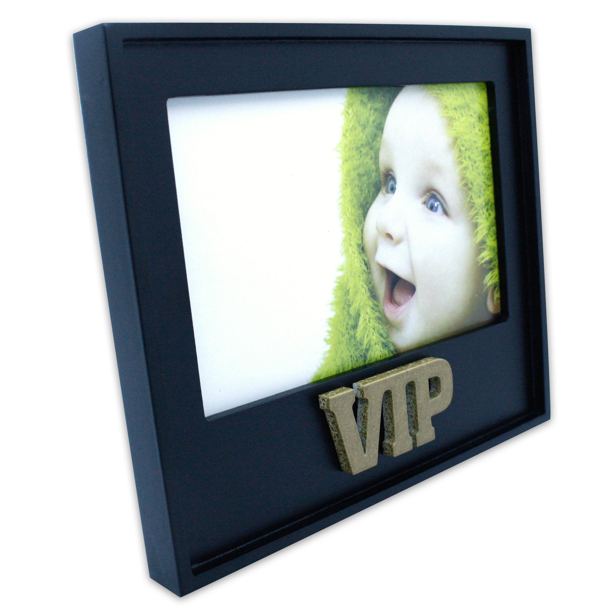 vip 3d bilderrahmen fotorahmen einzelrahmen fotohalter holzrahmen schwarz gold 4250953424736 ebay. Black Bedroom Furniture Sets. Home Design Ideas
