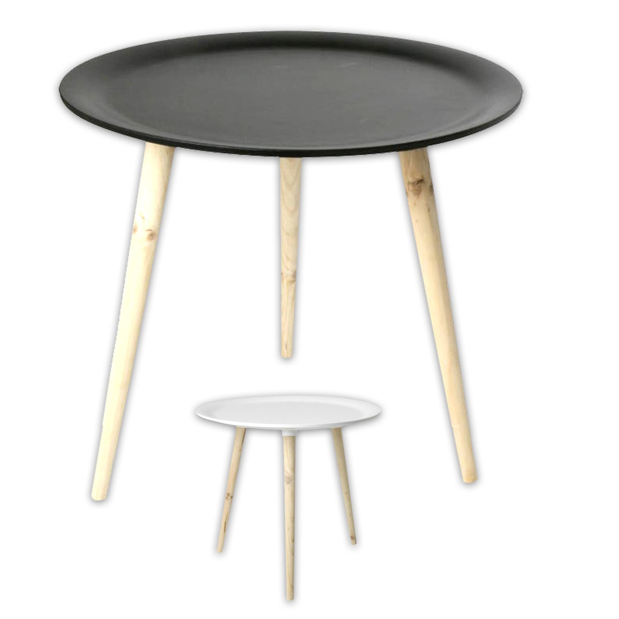 Tisch holztisch im retro stil aus kiefernholz 38 cm 48 for Holztisch retro