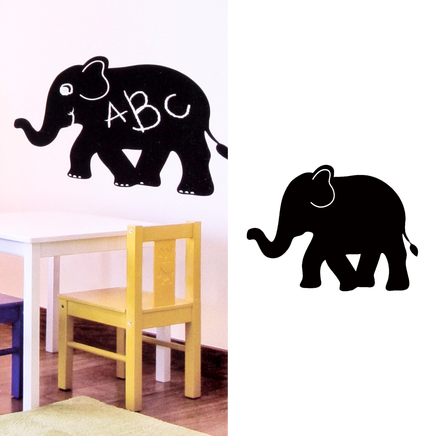 maltafel tafelfolie beschriftbar 50 x 70 cm frosch elefant. Black Bedroom Furniture Sets. Home Design Ideas