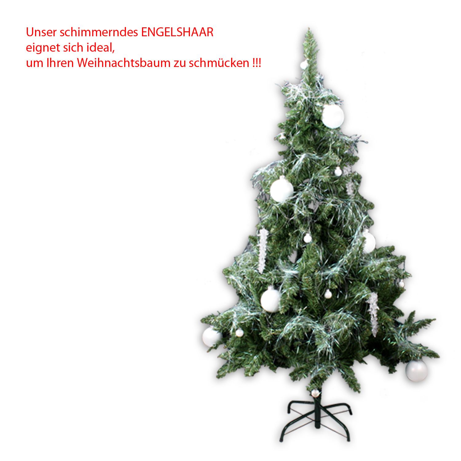 5 x angel hair christmas tree decoration dekoschnee for 180 degrees christmas decoration