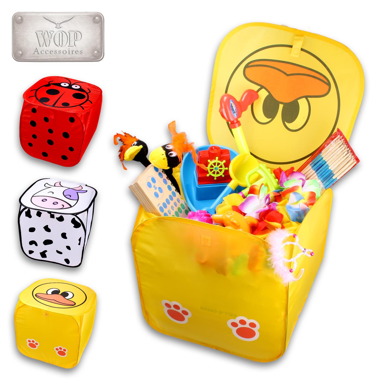 faltbare aufbewahrungsbox mit deckel faltbox spielzeugbox kiste organizer box ebay. Black Bedroom Furniture Sets. Home Design Ideas