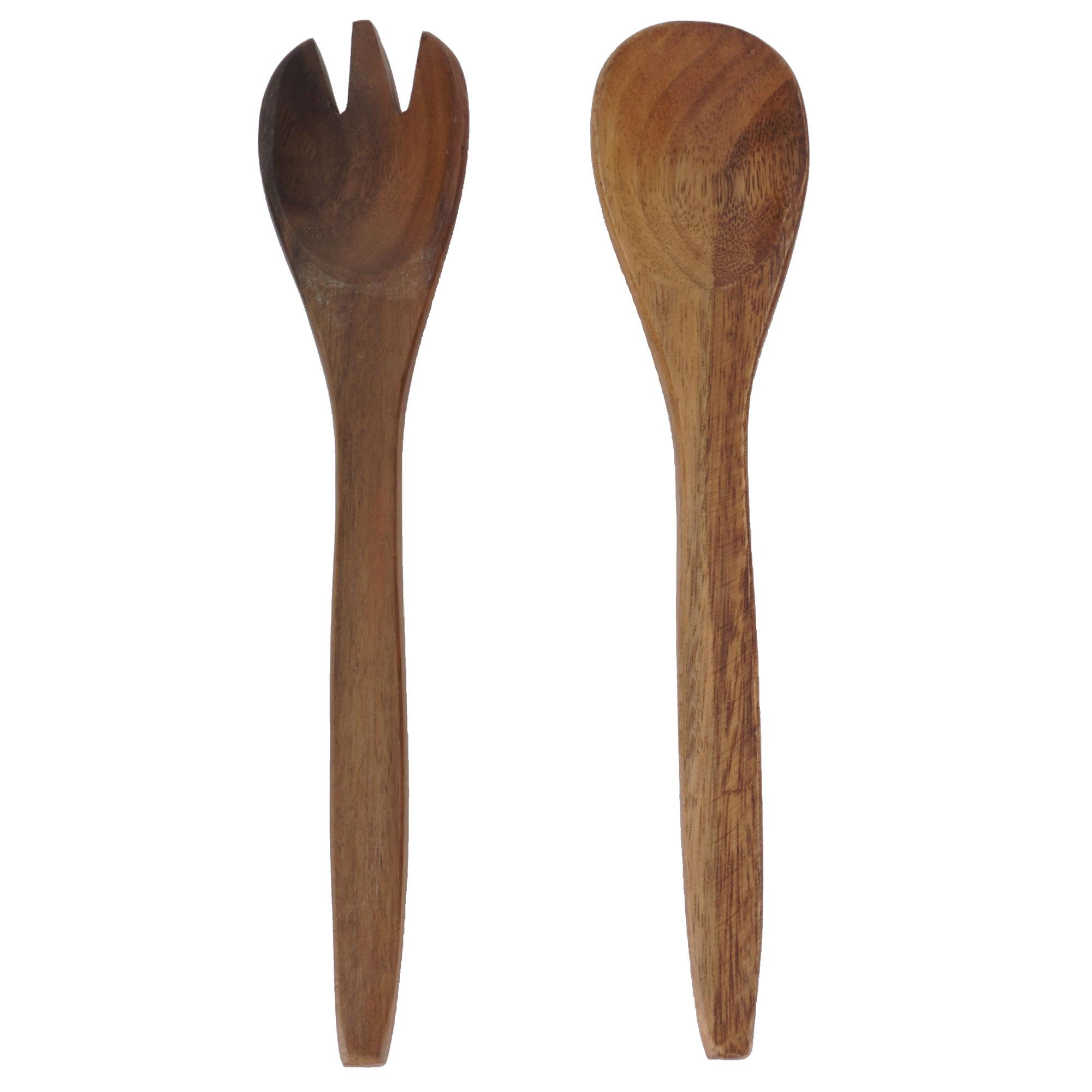 Posate per insalata legno di acacia holzbesteck da portata - Posate da portata ...
