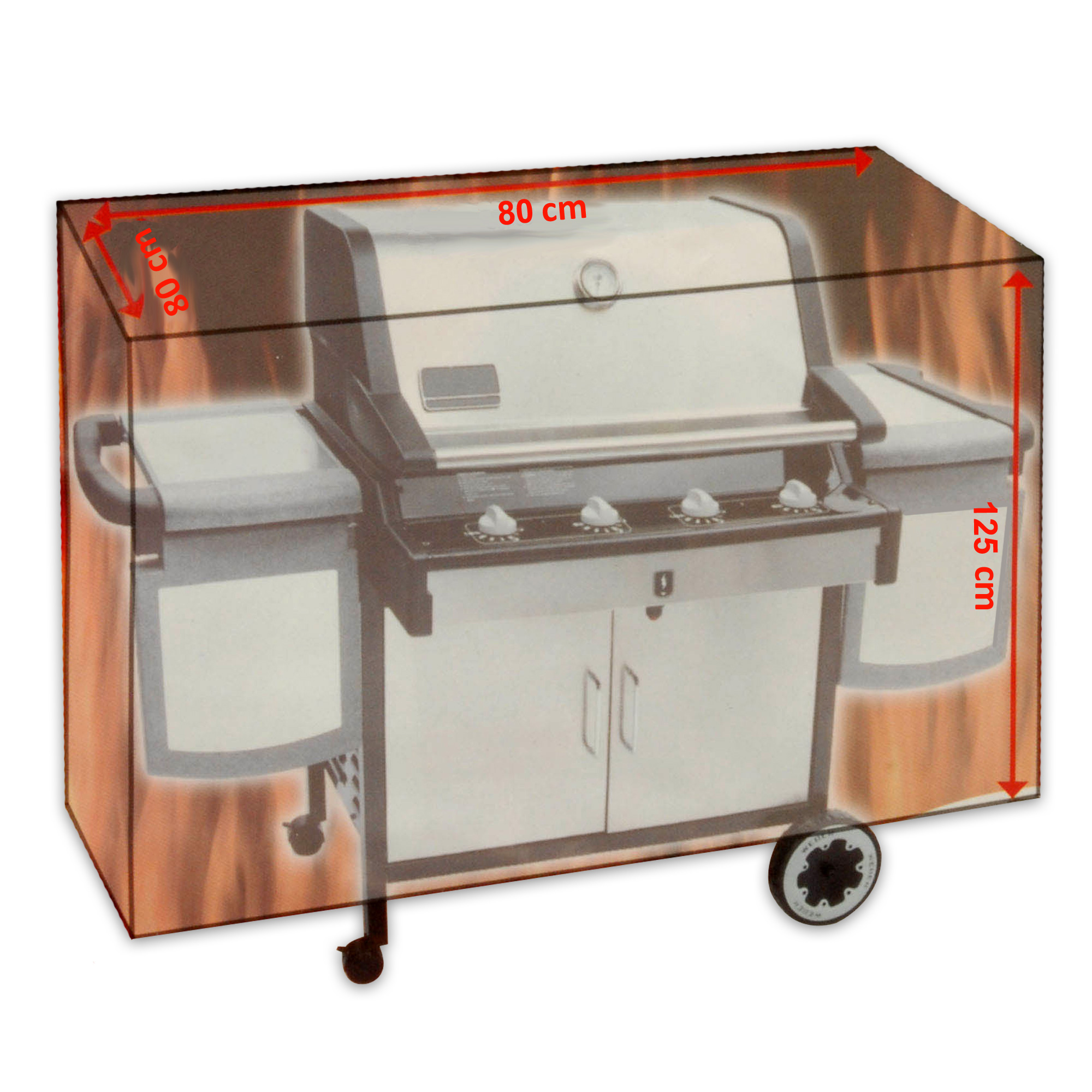 Housse pour barbecue 80 x 125 80 cm grill couverture de protection ebay - Grille barbecue 80 cm ...