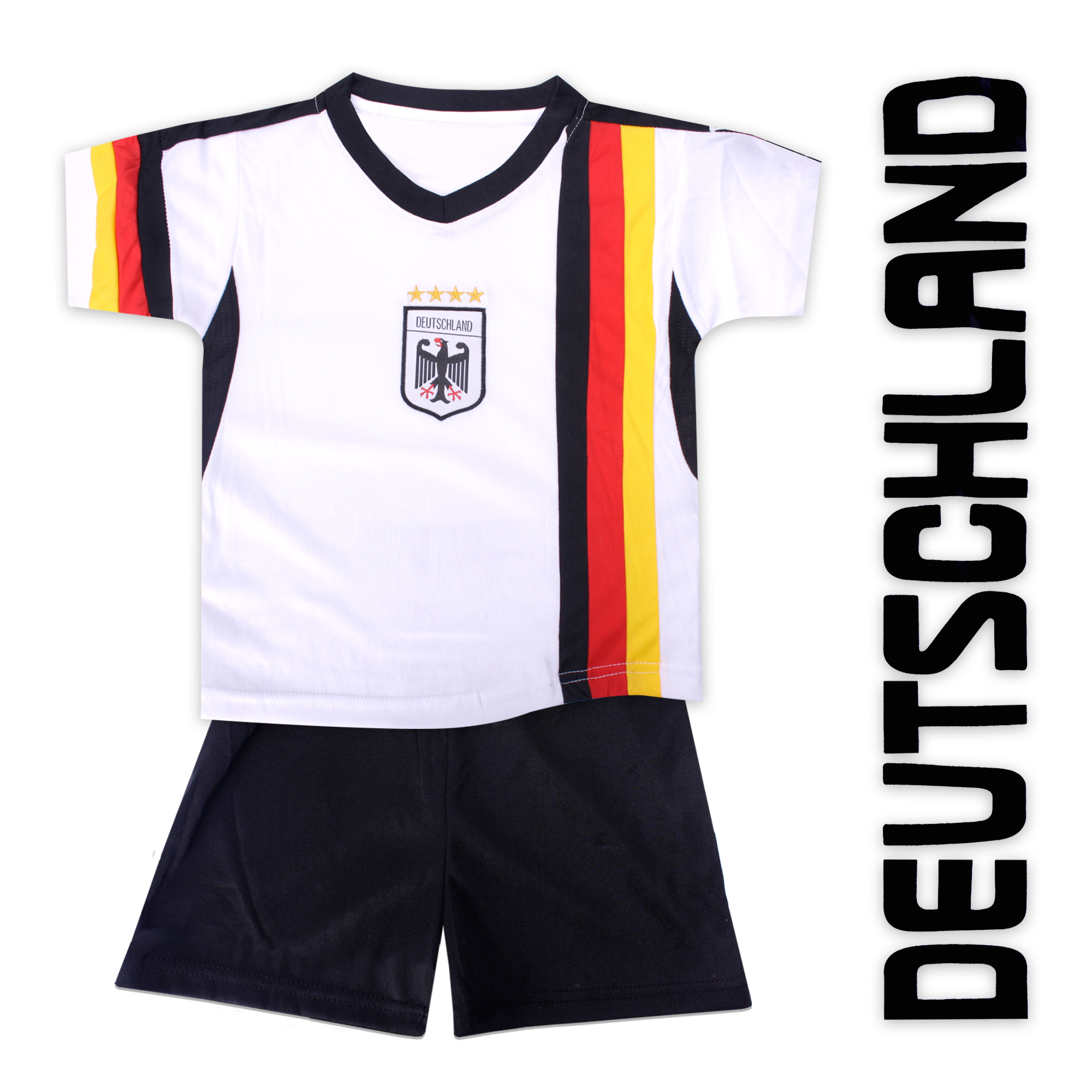 fussball kinder trikot hose deutschland gesticktes. Black Bedroom Furniture Sets. Home Design Ideas