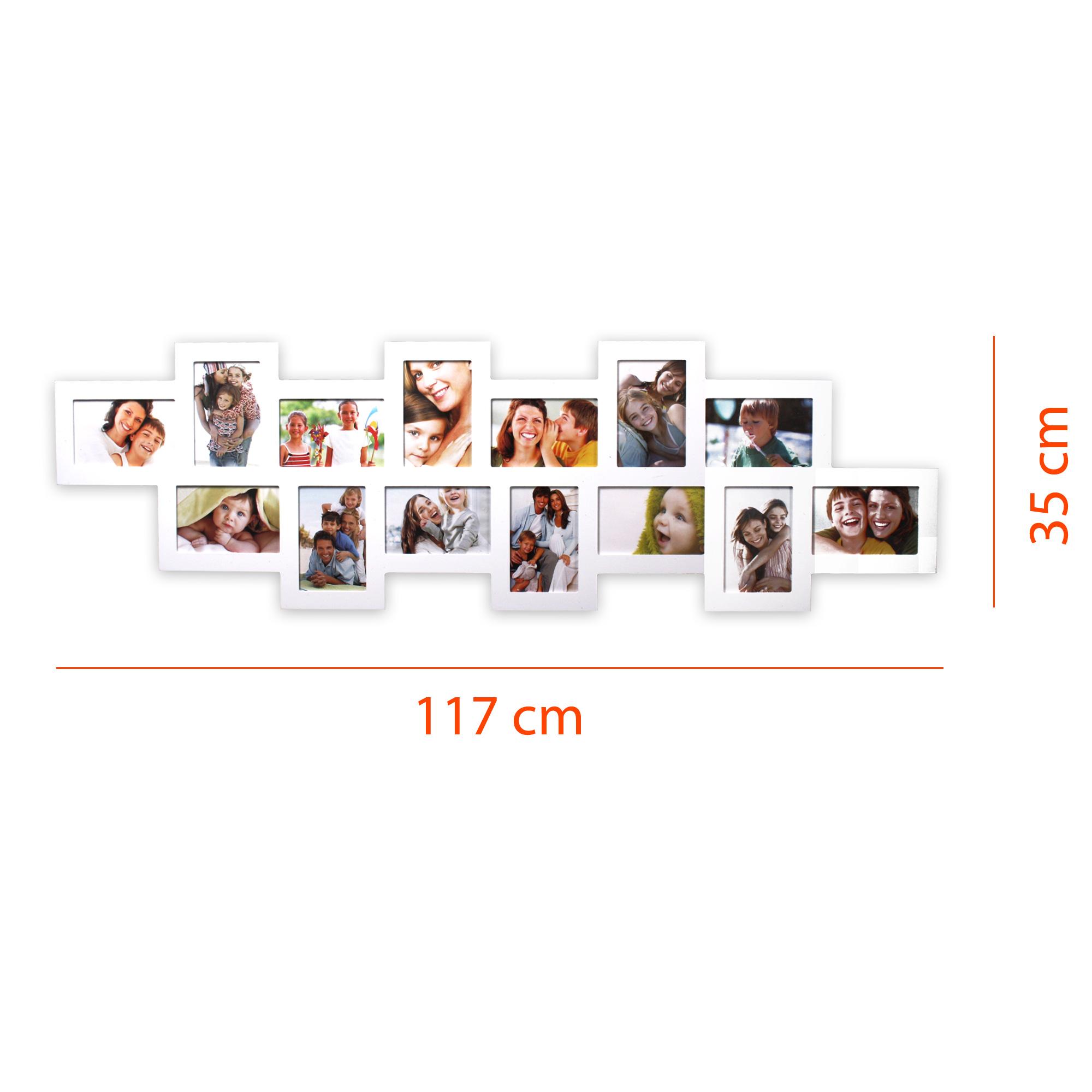 Collage Galerie Fotorahmen Bilderrahmen quer 35x117cm14 Fotos ...