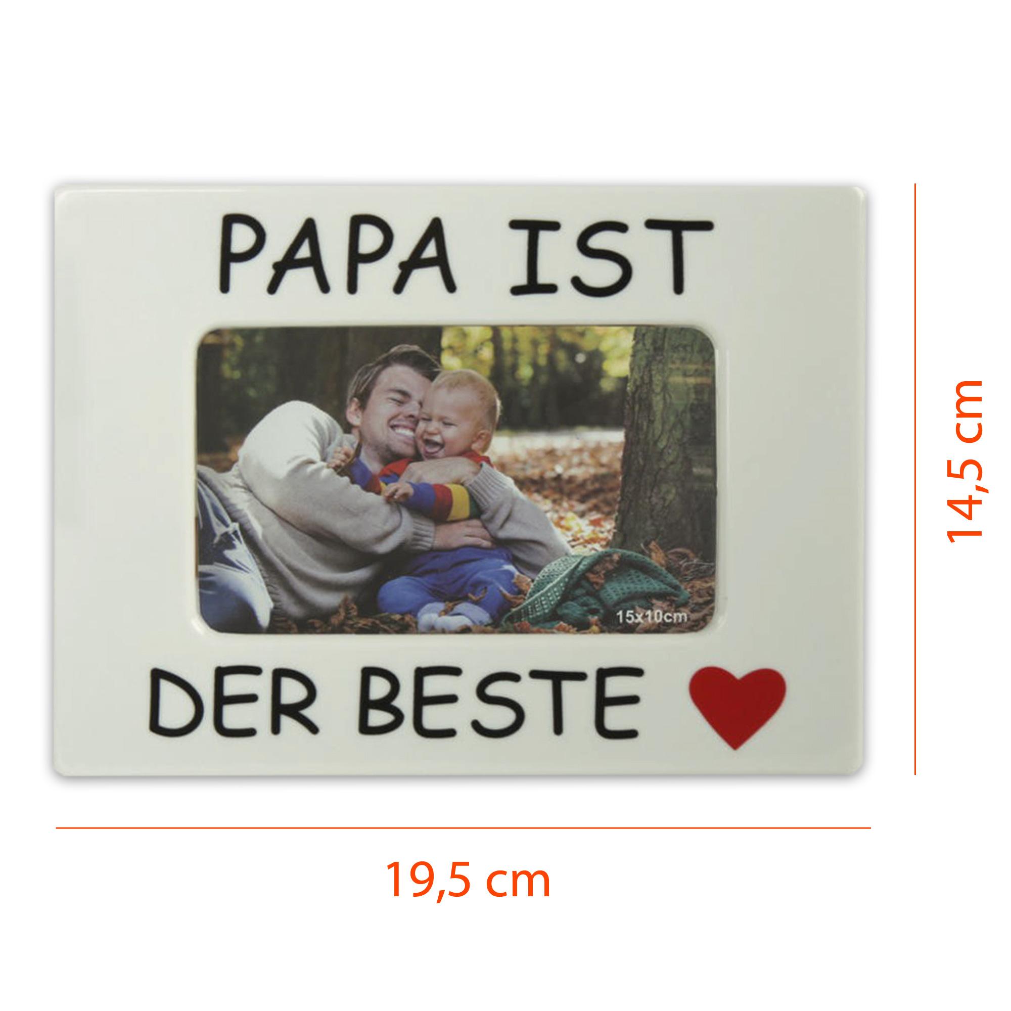 Bilderrahmen f. 10 x 15 cm Papa / Opa ist der Beste ? Mama / Oma ist ...