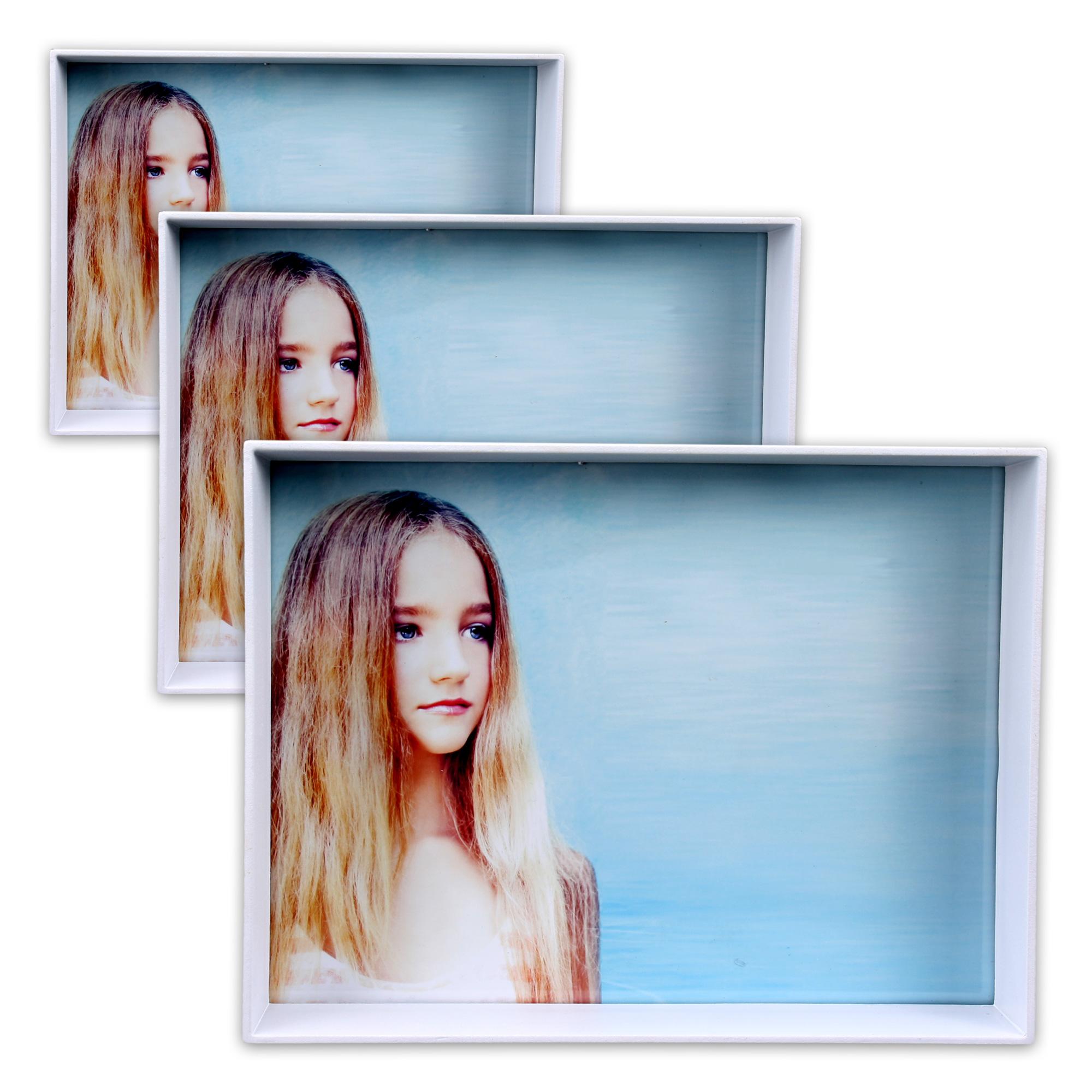 3 Bilderrahmen aus Kunststoff: 11 x 16 cm + 13,5 x 18,5 cm +
