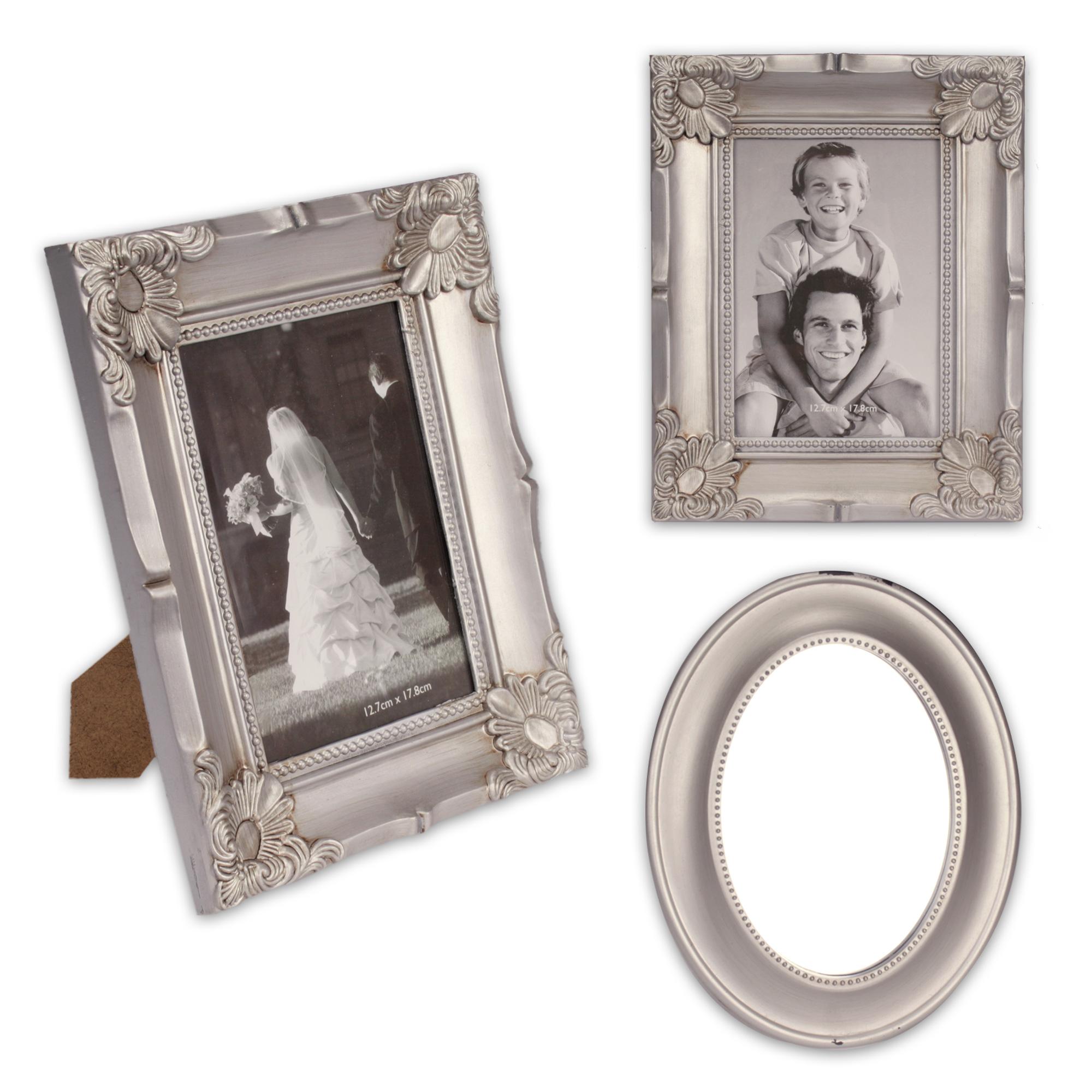 3teiliges bilderrahmen spiegel set aus kunststoff in. Black Bedroom Furniture Sets. Home Design Ideas