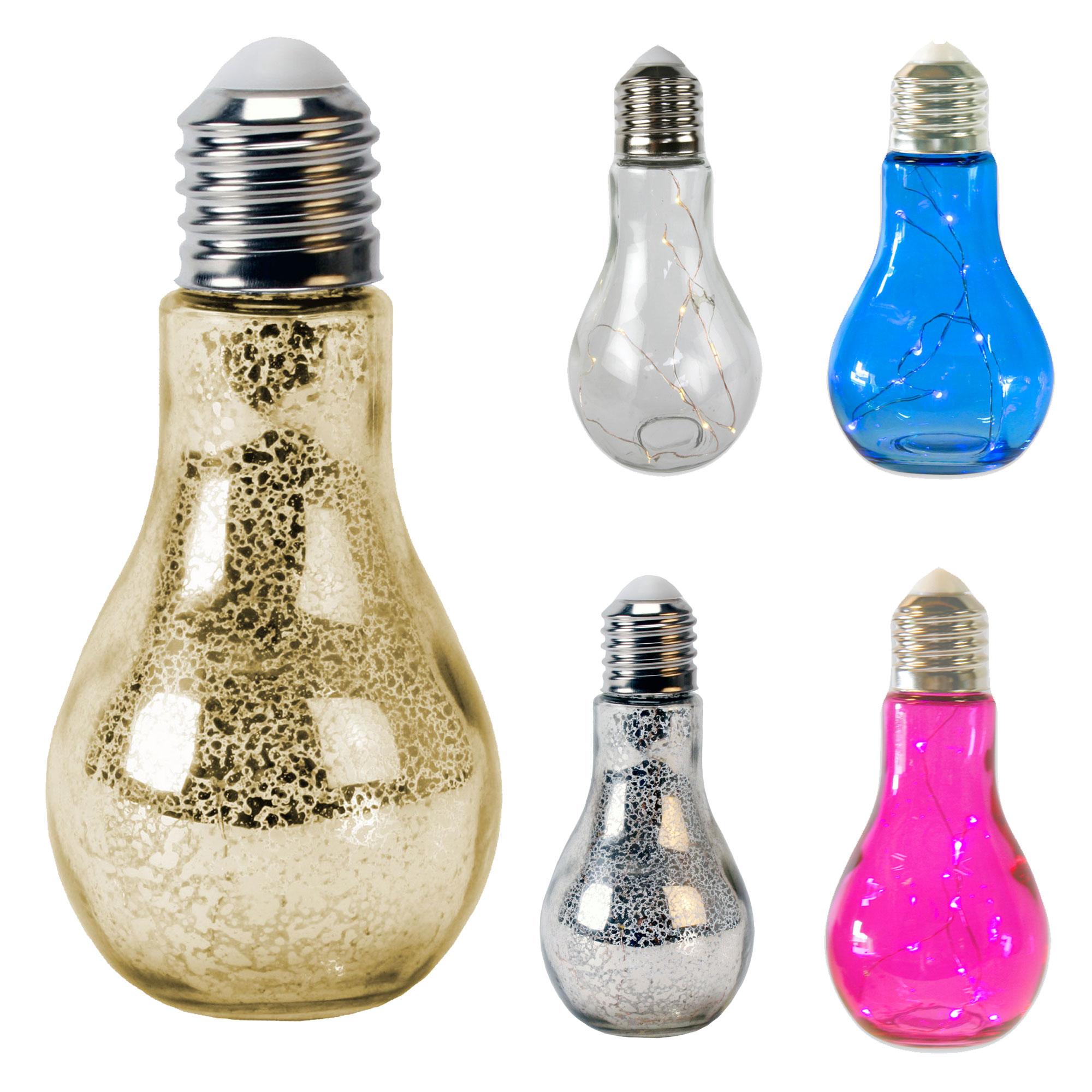 3 x gl hbirne mit led beleuchtung zum aufh ngen in 4 farben in outdoor garten ebay. Black Bedroom Furniture Sets. Home Design Ideas