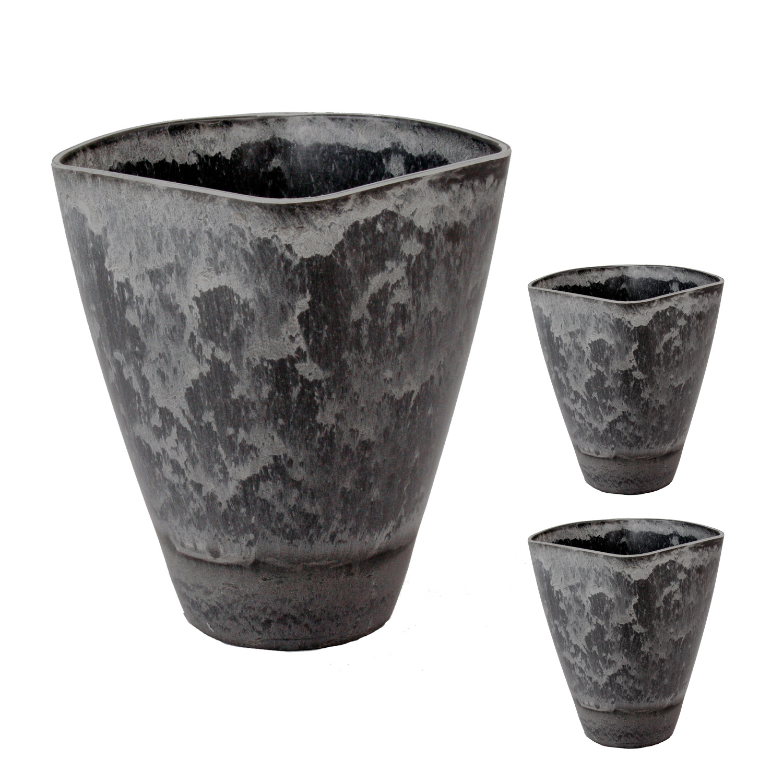 dekoschale pflanzschale bertopf schale kunststoffschale blumen schieferoptik ebay. Black Bedroom Furniture Sets. Home Design Ideas