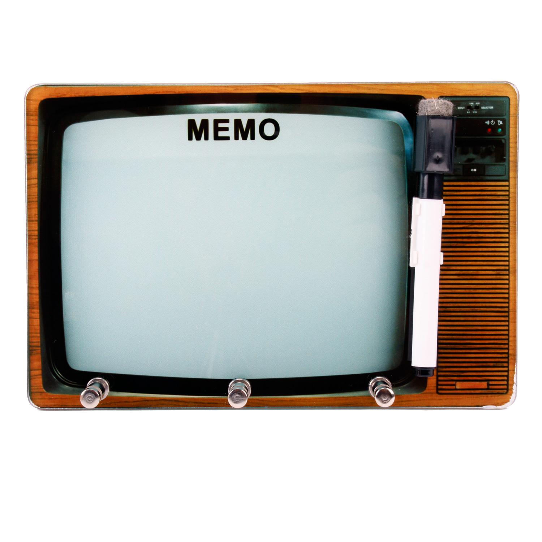 keyboard memo board memo board retro tv optik made of glass with pin and hook ebay. Black Bedroom Furniture Sets. Home Design Ideas