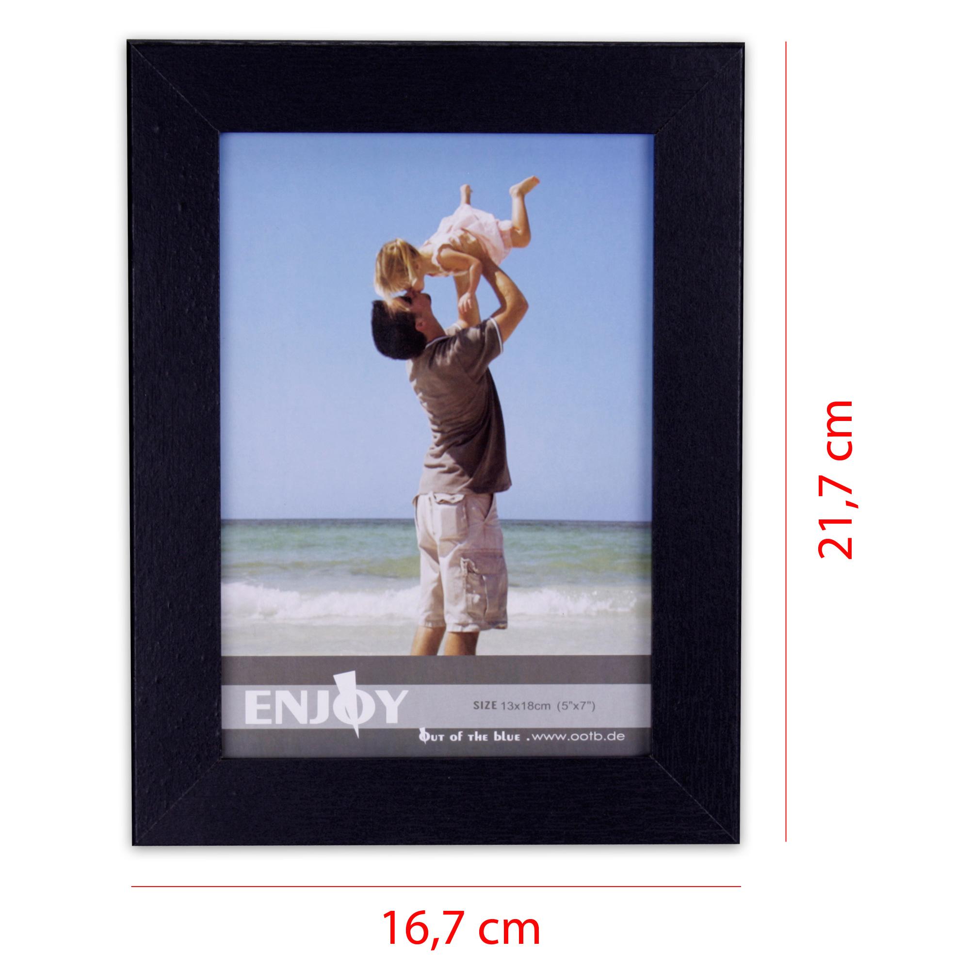 Bilderrahmen aus MDF 16,7 x 21,7 cm für 1 Foto 13 x 18 cm in schwarz ...